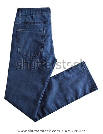 Men's blue pants isolated on white Stock photo © ozaiachin