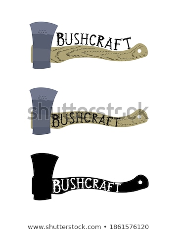 flat icons   hunting and bushcraft stock photo © zelimirz