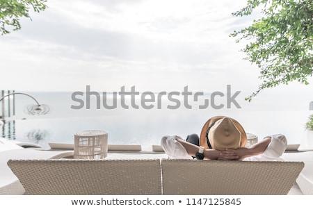 homem · praia · phuket · Tailândia · céu · água - foto stock © -baks-
