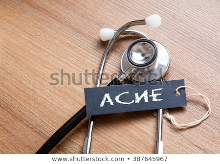 Acne Diagnosis. Medical Concept.  Stock photo © tashatuvango