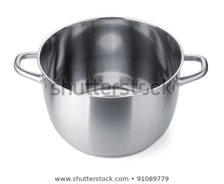 Aço inoxidável pote cobrir isolado branco comida Foto stock © ozaiachin