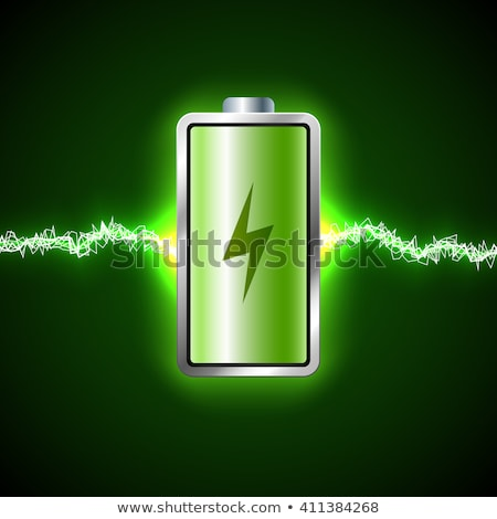 Green energy power supply battery sparks Stock photo © Anterovium