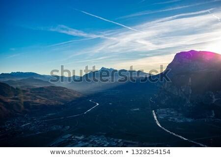 谷 · 村 · フォアグラウンド · 空 · 草 · 市 - ストックフォト © antonio-s