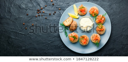 Poissons délicieux ail sauce brun Photo stock © zhekos