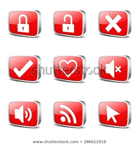 Stock photo: SEO Internet Sign Square Vector Red Icon Design Set 4