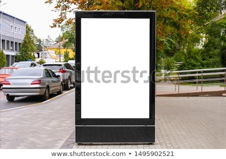 Metal · boş · reklam · sokak · vektör · bilgi - stok fotoğraf © netkov1