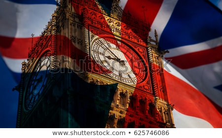 Union pavillon Big Ben Londres repère silhouette Photo stock © Bigalbaloo