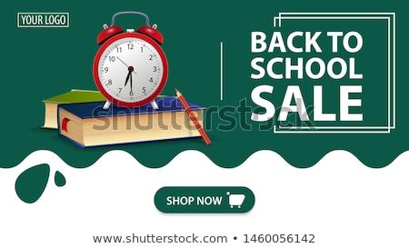 Diák árengedmény piros vektor ikon gomb Stock fotó © rizwanali3d