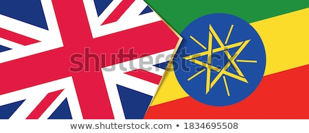 United Kingdom and Ethiopia Flags Stock photo © Istanbul2009