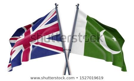 Reino Unido Paquistão bandeiras quebra-cabeça isolado branco Foto stock © Istanbul2009