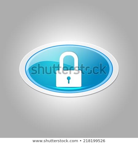 unlock circular blue vector web button icon stock photo © rizwanali3d