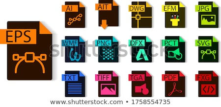 Image File type Format AIT icon Stock photo © kiddaikiddee