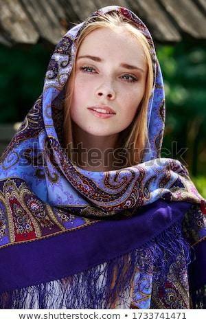 Portre rus kız huş ağacı güzel genç kadın Stok fotoğraf © svetography