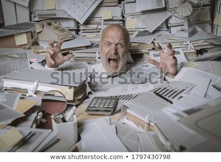 Desesperado empresário fora trabalhar cara Foto stock © alphaspirit