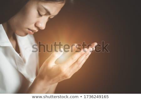 クリスチャン 女性 祈っ 手 聖なる 聖書 ストックフォト © stevanovicigor