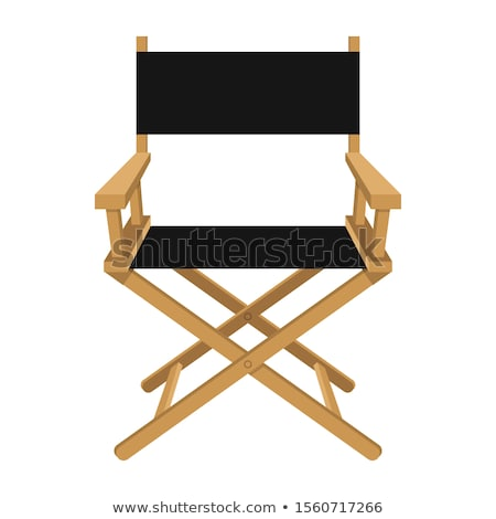 Wooden foldable Director chair Stock photo © Viva