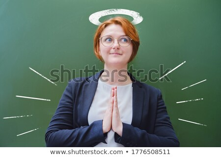 business angel   hand drawn on green chalkboard stock photo © tashatuvango