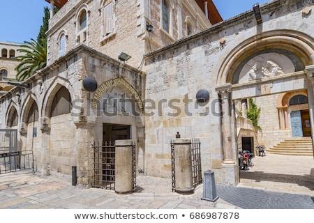 vitray · pencere · haç · kilise · eski · iç - stok fotoğraf © jorisvo
