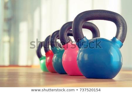 Kettlebells in a row Stock photo © wavebreak_media