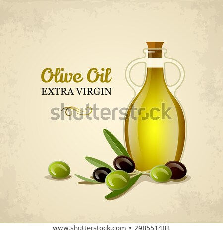 extra virgin olive oil vintage jars isolated stock photo © marimorena