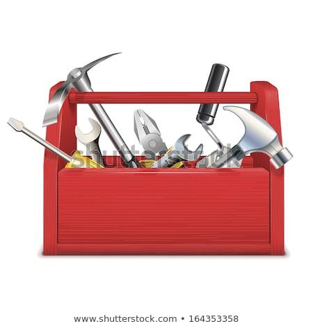 Red toolbox toolbox - repairman equipment Stock photo © Winner