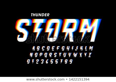 thunder storm sign Stock photo © vector1st