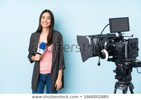 A female reporter Stock photo © bluering