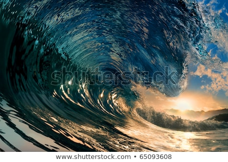 Ocean wave breaking down Stock photo © homydesign