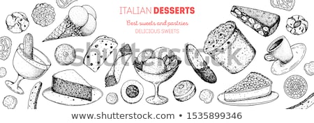 Sorvete biscoitos dois prato sobremesa Foto stock © Digifoodstock