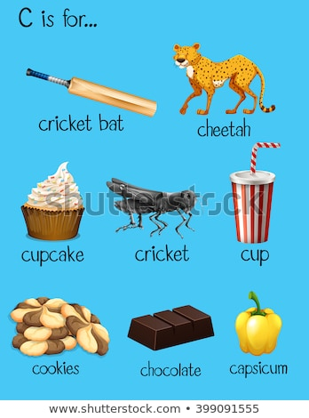 letter · c · cheetah · illustratie · kinderen · kind · achtergrond - stockfoto © bluering