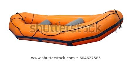 Gumi csónak narancs ülés nem egyedül Stock fotó © bluering