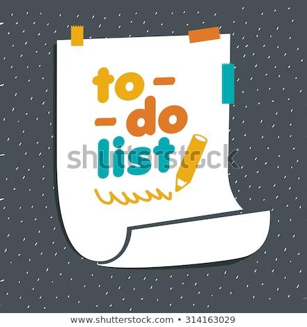 リストを行うには 文字 学校 ボード チョーク ビジネス ストックフォト © fuzzbones0