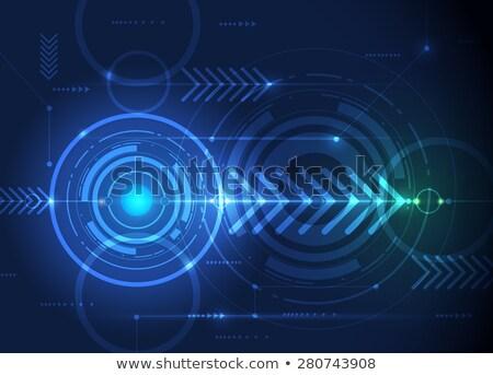 黑暗 绿色 高科技 电路板 箭头 向量 商业照片 saicle