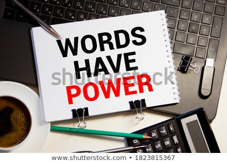 words have power text on green board stock photo © fuzzbones0