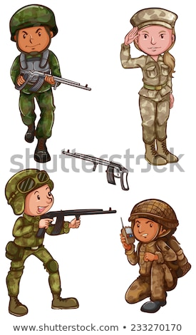 A simple sketch of a brave soldier Stock photo © bluering