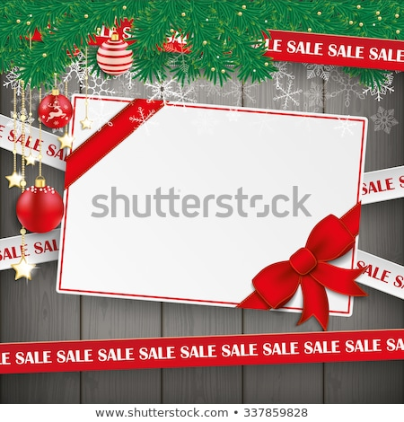 Christmas Gift Star Twigs Baubles Sale Wood Stock photo © limbi007