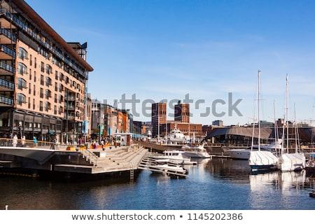 Oslo Noruega ver moderno distrito Foto stock © vladacanon
