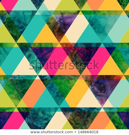 Raster Seamless Geometric Grunge Pattern Stock photo © CreatorsClub