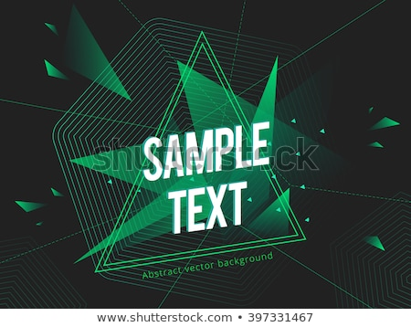 Glow green neon vector hexagon shiny design Stock photo © saicle