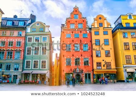 Tér Stockholm Svédország égbolt ház város Stock fotó © vladacanon
