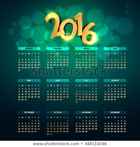 creative golden 2016 calender Stock photo © SArts