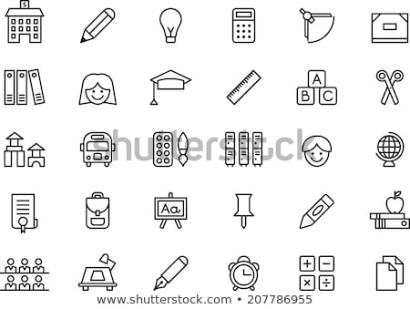 school chalkboard line icon stock photo © rastudio