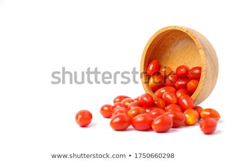 Pruim tomaten kom vers Rood gezonde Stockfoto © Digifoodstock