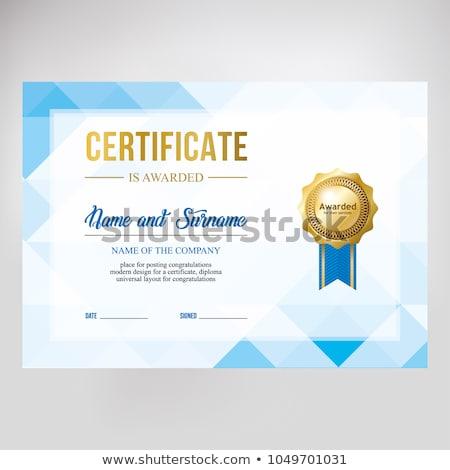 afgestudeerde · Blauw · knap · jonge · diploma - stockfoto © sarts