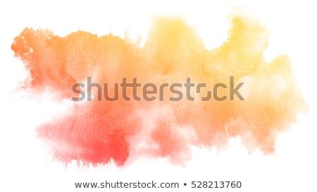Heldere Geel oranje aquarel vlek water Stockfoto © SArts