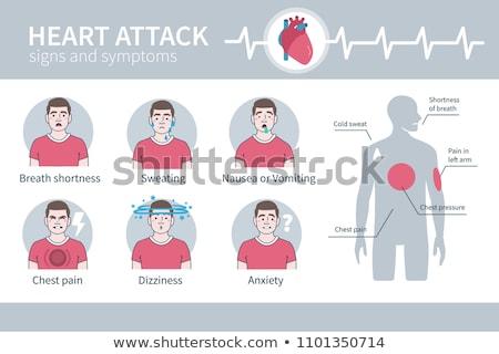 artery disease atherosclerosis stroke and heart attack stock photo © tefi