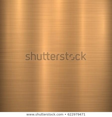 Bronz fém technológia absztrakt kör csiszolt Stock fotó © molaruso