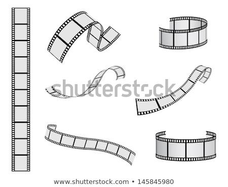 film · şeridi · vektör · ayarlamak · gerçekçi · çerçeve · yalıtılmış - stok fotoğraf © sarts