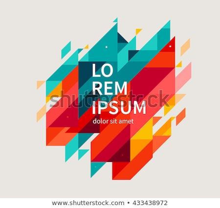 Soyut renk poster geometrik broşür dizayn Stok fotoğraf © fresh_5265954