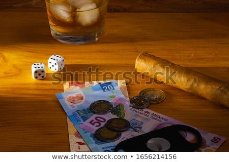 Cubaans sigaar bankbiljetten luxe tabel business Stockfoto © CaptureLight